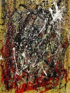 Estío 15,30 (45x60,5cm) Acrílico y pintura metálica sobre papel tela montado sobre tablero DM