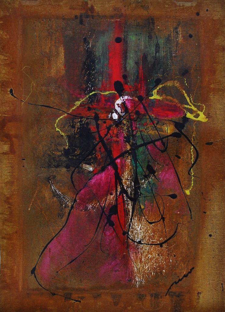 El cardenal inquisidor (Serie PERGAMINOS - Nº4) (29X41 cms) Óxido, acrílico y pastel sobre papel- tela