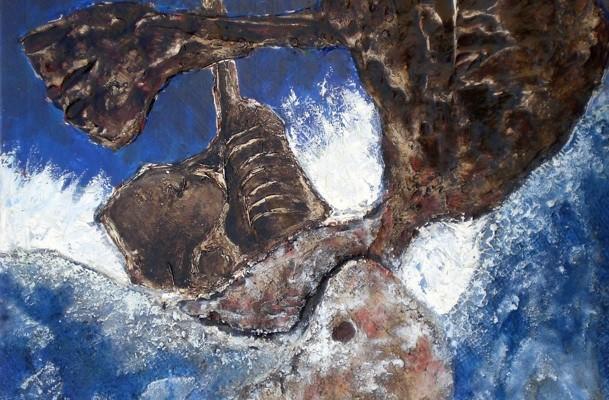 Jinete del Mar (65x80cm) técnica mixta sobre lienzo