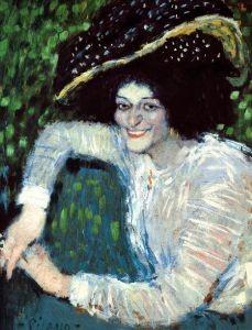 28428_Femme_souriante_au_chapeau_a_plumes_Buste_de_femme_souriante__f