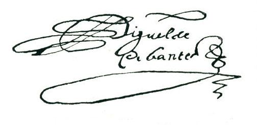 Firma de MIGUEL DE CERVANTES