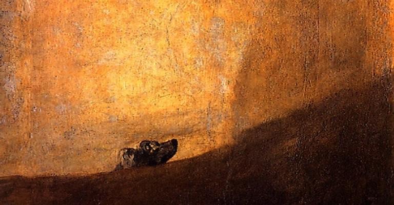 Goya_Perro semihundido