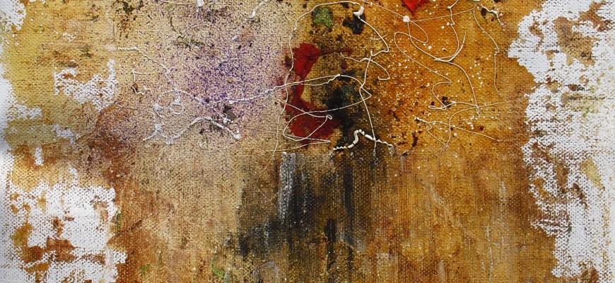 Serie PERGAMINOS.- Nº2  Isla del tesoro (29X41cms) Óxido, acrílico y tinta sobre papel-tela
