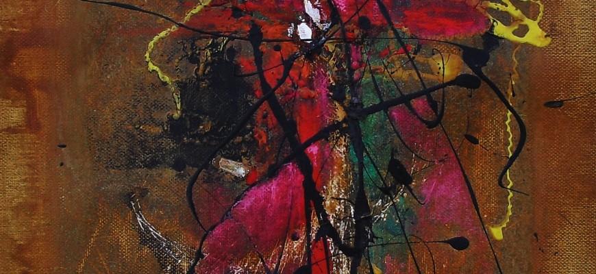 Serie PERGAMINOS.- Nº4 El cardenal inquisidor (29X41 cms) Óxido, acrílico y pastel sobre papel- tela