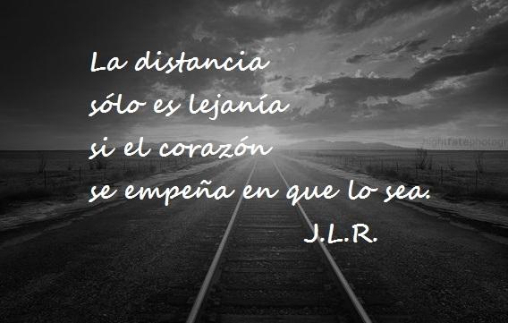 La distancia...