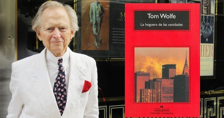 Richmond native and author Tom Wolfe, outside The Carlyle, a hotel on the upper east side of Manhattan not far from his home. He is standing next to an ad for an artist featuring a portrait of Wolfe.