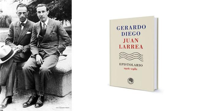 G. Diego con su amigo Juan Larrea