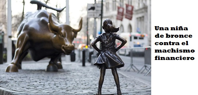 In this March 22  2017 photo  the Charging Bull and Fearless Girl statues are sit on Lower Broadway in New York  Since 1989 the bronze bull has stood in New York City s financial district as an image of the might and hard-charging spirit of Wall Street  But the installation of the bold girl defiantly standing in the bull s path has transformed the meaning of one of New York s best-known public artworks  Pressure is mounting on the city to let the Fearless Girl stay   AP Photo Mark Lennihan