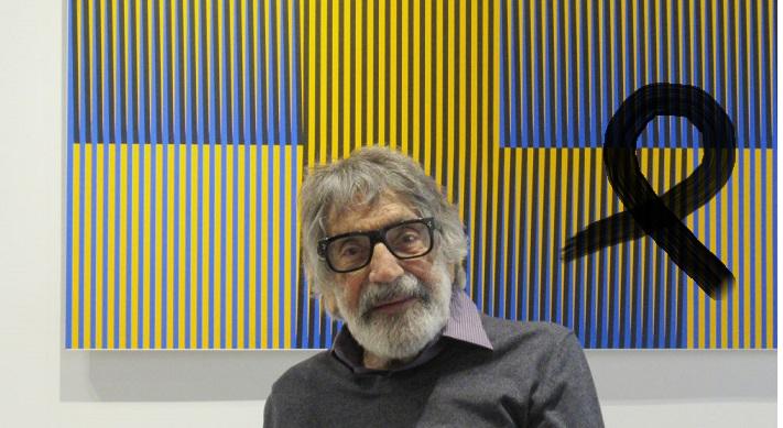 21 February 2018, France, Paris: Carlos Cruz-Diez, artist, in his studio. Photo: Sabine Glaubitz/dpa (Photo by Sabine Glaubitz/picture alliance via Getty Images)