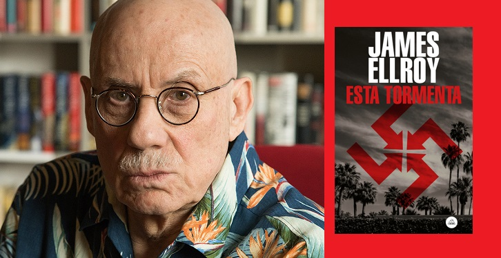 Author James Ellroy, photographed at his home in Denver, Colorado on May 22, 2019. Photograph by Theo Stroomer.