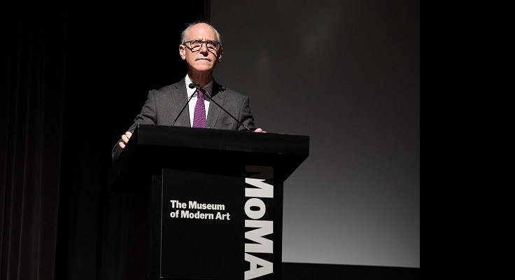 speaks onstage at The Museum Of Modern Art Film Benefit Presented By CHANEL: A Tribute To Martin Scorsese on November 19, 2018 in New York City.